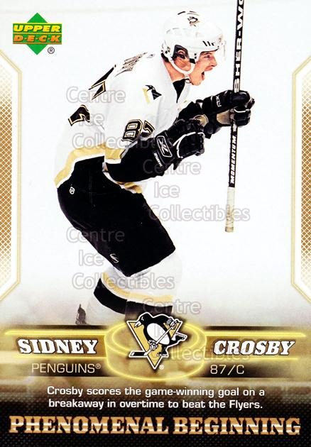 2005-06 UD Sidney Crosby Phenomenal Beginning Gold #10 Sidney Crosby<br/>2 In Stock - $3.00 each - <a href=https://centericecollectibles.foxycart.com/cart?name=2005-06%20UD%20Sidney%20Crosby%20Phenomenal%20Beginning%20Gold%20%2310%20Sidney%20Crosby...&quantity_max=2&price=$3.00&code=251219 class=foxycart> Buy it now! </a>