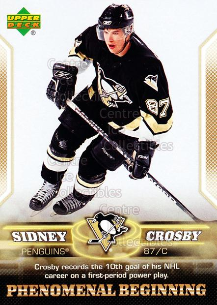 2005-06 UD Sidney Crosby Phenomenal Beginning Gold #11 Sidney Crosby<br/>2 In Stock - $3.00 each - <a href=https://centericecollectibles.foxycart.com/cart?name=2005-06%20UD%20Sidney%20Crosby%20Phenomenal%20Beginning%20Gold%20%2311%20Sidney%20Crosby...&quantity_max=2&price=$3.00&code=251220 class=foxycart> Buy it now! </a>