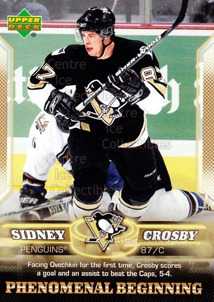 2005-06 UD Sidney Crosby Phenomenal Beginning Gold #12 Sidney Crosby<br/>2 In Stock - $2.00 each - <a href=https://centericecollectibles.foxycart.com/cart?name=2005-06%20UD%20Sidney%20Crosby%20Phenomenal%20Beginning%20Gold%20%2312%20Sidney%20Crosby...&price=$2.00&code=251221 class=foxycart> Buy it now! </a>