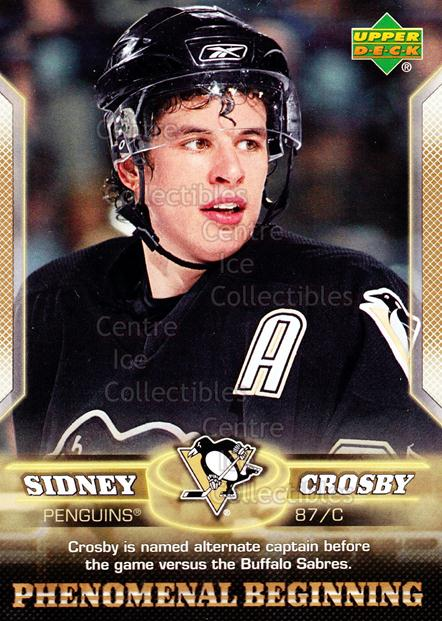 2005-06 UD Sidney Crosby Phenomenal Beginning Gold #13 Sidney Crosby<br/>2 In Stock - $2.00 each - <a href=https://centericecollectibles.foxycart.com/cart?name=2005-06%20UD%20Sidney%20Crosby%20Phenomenal%20Beginning%20Gold%20%2313%20Sidney%20Crosby...&price=$2.00&code=251222 class=foxycart> Buy it now! </a>