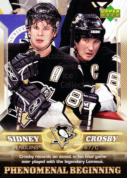 2005-06 UD Sidney Crosby Phenomenal Beginning Gold #14 Sidney Crosby, Mario Lemieux<br/>2 In Stock - $3.00 each - <a href=https://centericecollectibles.foxycart.com/cart?name=2005-06%20UD%20Sidney%20Crosby%20Phenomenal%20Beginning%20Gold%20%2314%20Sidney%20Crosby,%20...&quantity_max=2&price=$3.00&code=251223 class=foxycart> Buy it now! </a>
