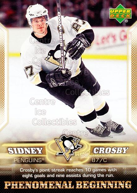 2005-06 UD Sidney Crosby Phenomenal Beginning Gold #15 Sidney Crosby<br/>2 In Stock - $3.00 each - <a href=https://centericecollectibles.foxycart.com/cart?name=2005-06%20UD%20Sidney%20Crosby%20Phenomenal%20Beginning%20Gold%20%2315%20Sidney%20Crosby...&quantity_max=2&price=$3.00&code=251224 class=foxycart> Buy it now! </a>