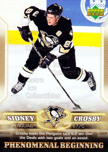 2005-06 UD Sidney Crosby Phenomenal Beginning Gold #16 Sidney Crosby<br/>2 In Stock - $3.00 each - <a href=https://centericecollectibles.foxycart.com/cart?name=2005-06%20UD%20Sidney%20Crosby%20Phenomenal%20Beginning%20Gold%20%2316%20Sidney%20Crosby...&quantity_max=2&price=$3.00&code=251225 class=foxycart> Buy it now! </a>