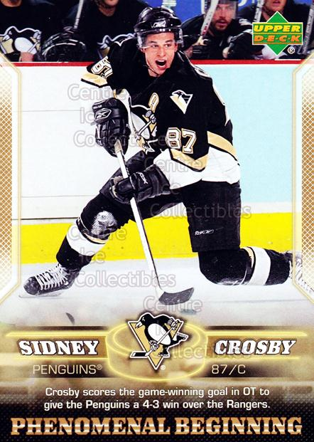 2005-06 UD Sidney Crosby Phenomenal Beginning Gold #17 Sidney Crosby<br/>2 In Stock - $3.00 each - <a href=https://centericecollectibles.foxycart.com/cart?name=2005-06%20UD%20Sidney%20Crosby%20Phenomenal%20Beginning%20Gold%20%2317%20Sidney%20Crosby...&quantity_max=2&price=$3.00&code=251226 class=foxycart> Buy it now! </a>