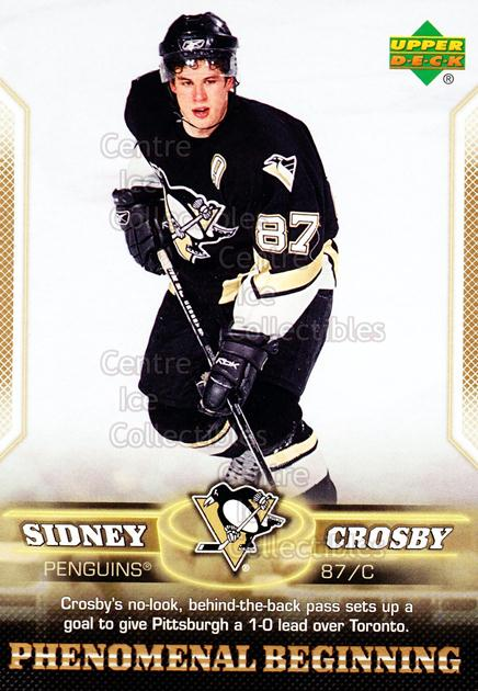 2005-06 UD Sidney Crosby Phenomenal Beginning Gold #18 Sidney Crosby<br/>2 In Stock - $3.00 each - <a href=https://centericecollectibles.foxycart.com/cart?name=2005-06%20UD%20Sidney%20Crosby%20Phenomenal%20Beginning%20Gold%20%2318%20Sidney%20Crosby...&quantity_max=2&price=$3.00&code=251227 class=foxycart> Buy it now! </a>
