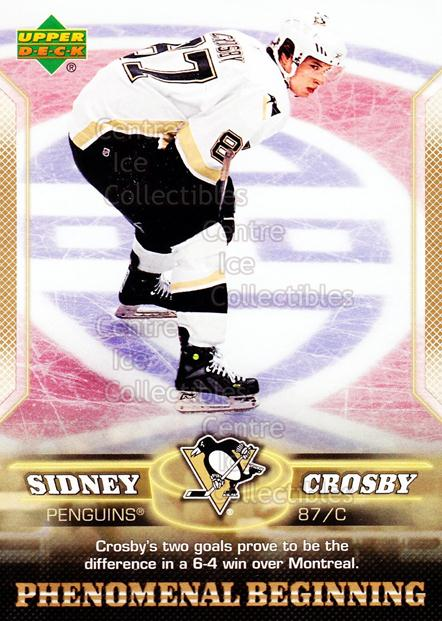 2005-06 UD Sidney Crosby Phenomenal Beginning Gold #19 Sidney Crosby<br/>2 In Stock - $2.00 each - <a href=https://centericecollectibles.foxycart.com/cart?name=2005-06%20UD%20Sidney%20Crosby%20Phenomenal%20Beginning%20Gold%20%2319%20Sidney%20Crosby...&price=$2.00&code=251228 class=foxycart> Buy it now! </a>