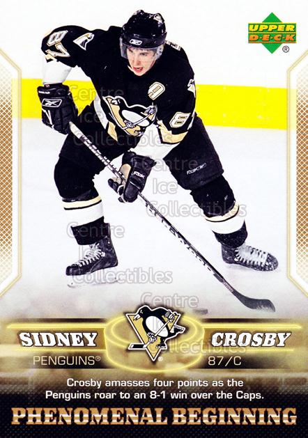 2005-06 UD Sidney Crosby Phenomenal Beginning Gold #20 Sidney Crosby<br/>2 In Stock - $3.00 each - <a href=https://centericecollectibles.foxycart.com/cart?name=2005-06%20UD%20Sidney%20Crosby%20Phenomenal%20Beginning%20Gold%20%2320%20Sidney%20Crosby...&quantity_max=2&price=$3.00&code=251229 class=foxycart> Buy it now! </a>