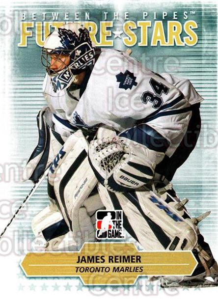 2009-10 Between The Pipes #12 James Reimer<br/>1 In Stock - $3.00 each - <a href=https://centericecollectibles.foxycart.com/cart?name=2009-10%20Between%20The%20Pipes%20%2312%20James%20Reimer...&price=$3.00&code=251531 class=foxycart> Buy it now! </a>