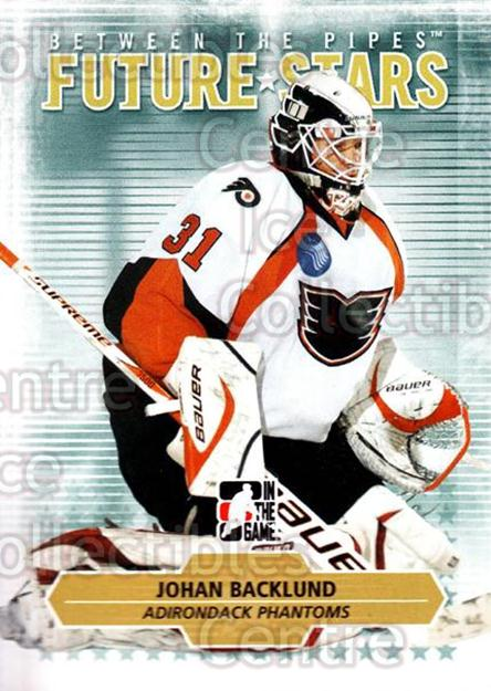 2009-10 Between The Pipes #15 Johan Backlund<br/>1 In Stock - $1.00 each - <a href=https://centericecollectibles.foxycart.com/cart?name=2009-10%20Between%20The%20Pipes%20%2315%20Johan%20Backlund...&price=$1.00&code=251534 class=foxycart> Buy it now! </a>