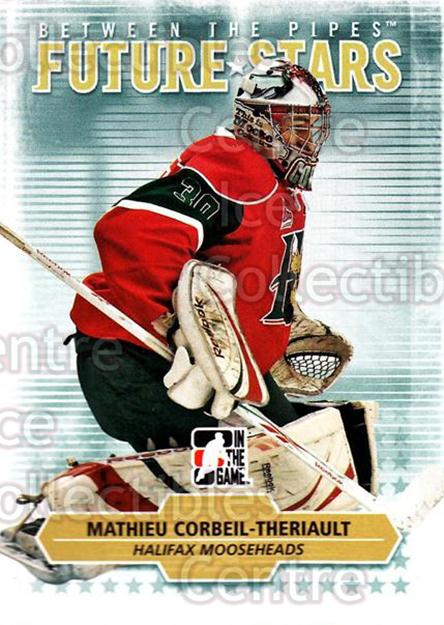 2009-10 Between The Pipes #52 Mathieu Corbeil-Theriault<br/>5 In Stock - $1.00 each - <a href=https://centericecollectibles.foxycart.com/cart?name=2009-10%20Between%20The%20Pipes%20%2352%20Mathieu%20Corbeil...&price=$1.00&code=251571 class=foxycart> Buy it now! </a>