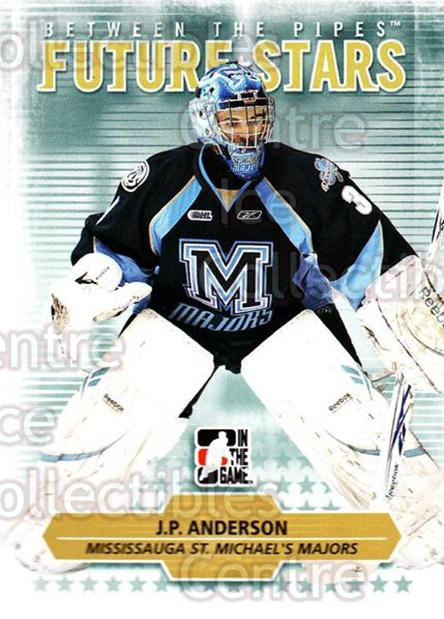2009-10 Between The Pipes #65 JP Anderson<br/>5 In Stock - $1.00 each - <a href=https://centericecollectibles.foxycart.com/cart?name=2009-10%20Between%20The%20Pipes%20%2365%20JP%20Anderson...&price=$1.00&code=251584 class=foxycart> Buy it now! </a>