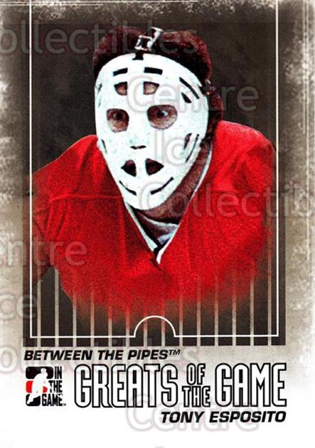 2009-10 Between The Pipes #138 Tony Esposito<br/>4 In Stock - $1.00 each - <a href=https://centericecollectibles.foxycart.com/cart?name=2009-10%20Between%20The%20Pipes%20%23138%20Tony%20Esposito...&price=$1.00&code=251657 class=foxycart> Buy it now! </a>