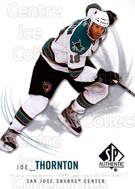 2009-10 SP Authentic #7 Joe Thornton<br/>6 In Stock - $1.00 each - <a href=https://centericecollectibles.foxycart.com/cart?name=2009-10%20SP%20Authentic%20%237%20Joe%20Thornton...&quantity_max=6&price=$1.00&code=251676 class=foxycart> Buy it now! </a>