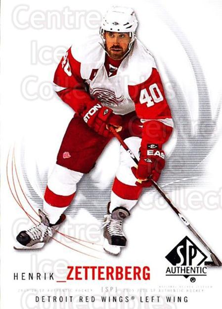 2009-10 SP Authentic #12 Henrik Zetterberg<br/>5 In Stock - $2.00 each - <a href=https://centericecollectibles.foxycart.com/cart?name=2009-10%20SP%20Authentic%20%2312%20Henrik%20Zetterbe...&quantity_max=5&price=$2.00&code=251681 class=foxycart> Buy it now! </a>