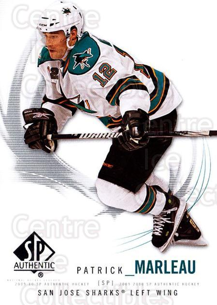 2009-10 SP Authentic #52 Patrick Marleau<br/>6 In Stock - $1.00 each - <a href=https://centericecollectibles.foxycart.com/cart?name=2009-10%20SP%20Authentic%20%2352%20Patrick%20Marleau...&quantity_max=6&price=$1.00&code=251721 class=foxycart> Buy it now! </a>