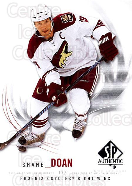 2009-10 SP Authentic #58 Shane Doan<br/>6 In Stock - $1.00 each - <a href=https://centericecollectibles.foxycart.com/cart?name=2009-10%20SP%20Authentic%20%2358%20Shane%20Doan...&quantity_max=6&price=$1.00&code=251727 class=foxycart> Buy it now! </a>