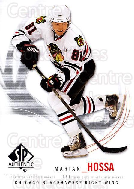 2009-10 SP Authentic #64 Marian Hossa<br/>5 In Stock - $1.00 each - <a href=https://centericecollectibles.foxycart.com/cart?name=2009-10%20SP%20Authentic%20%2364%20Marian%20Hossa...&quantity_max=5&price=$1.00&code=251733 class=foxycart> Buy it now! </a>