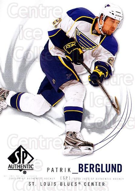 2009-10 SP Authentic #72 Patrik Berglund<br/>6 In Stock - $1.00 each - <a href=https://centericecollectibles.foxycart.com/cart?name=2009-10%20SP%20Authentic%20%2372%20Patrik%20Berglund...&quantity_max=6&price=$1.00&code=251741 class=foxycart> Buy it now! </a>