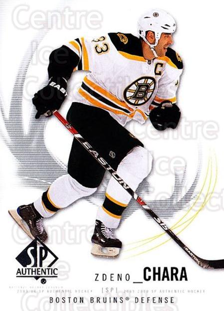 2009-10 SP Authentic #91 Zdeno Chara<br/>6 In Stock - $1.00 each - <a href=https://centericecollectibles.foxycart.com/cart?name=2009-10%20SP%20Authentic%20%2391%20Zdeno%20Chara...&quantity_max=6&price=$1.00&code=251760 class=foxycart> Buy it now! </a>