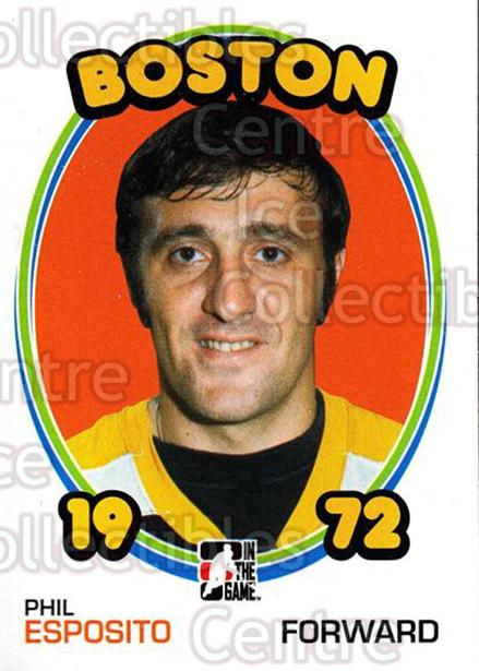 2009-10 ITG 1972 The Year In Hockey #1 Phil Esposito<br/>13 In Stock - $2.00 each - <a href=https://centericecollectibles.foxycart.com/cart?name=2009-10%20ITG%201972%20The%20Year%20In%20Hockey%20%231%20Phil%20Esposito...&quantity_max=13&price=$2.00&code=251870 class=foxycart> Buy it now! </a>