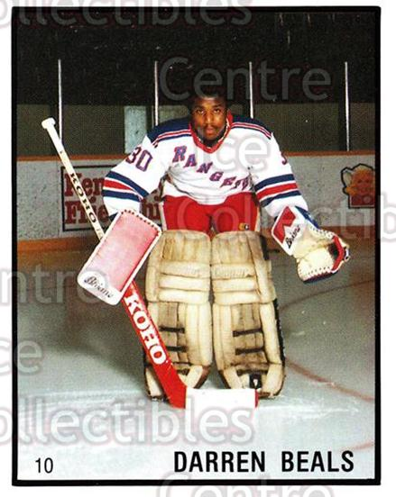 1986-87 Kitchener Rangers #10 Darren Beals<br/>8 In Stock - $3.00 each - <a href=https://centericecollectibles.foxycart.com/cart?name=1986-87%20Kitchener%20Rangers%20%2310%20Darren%20Beals...&quantity_max=8&price=$3.00&code=25189 class=foxycart> Buy it now! </a>