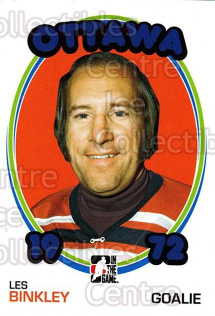 2009-10 ITG 1972 The Year In Hockey #131 Les Binkley<br/>19 In Stock - $1.00 each - <a href=https://centericecollectibles.foxycart.com/cart?name=2009-10%20ITG%201972%20The%20Year%20In%20Hockey%20%23131%20Les%20Binkley...&quantity_max=19&price=$1.00&code=252000 class=foxycart> Buy it now! </a>