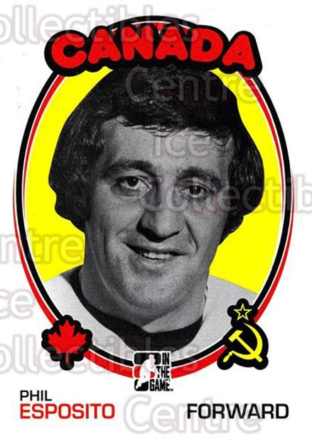 2009-10 ITG 1972 The Year In Hockey #159 Phil Esposito<br/>20 In Stock - $2.00 each - <a href=https://centericecollectibles.foxycart.com/cart?name=2009-10%20ITG%201972%20The%20Year%20In%20Hockey%20%23159%20Phil%20Esposito...&quantity_max=20&price=$2.00&code=252028 class=foxycart> Buy it now! </a>