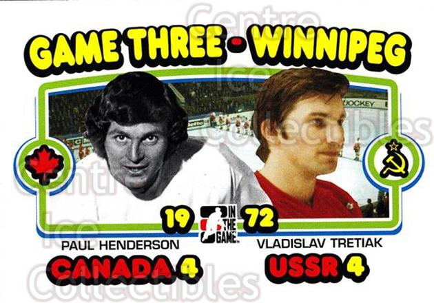 2009-10 ITG 1972 The Year In Hockey #192 Paul Henderson, Vladislav Tretiak<br/>14 In Stock - $1.00 each - <a href=https://centericecollectibles.foxycart.com/cart?name=2009-10%20ITG%201972%20The%20Year%20In%20Hockey%20%23192%20Paul%20Henderson,...&quantity_max=14&price=$1.00&code=252061 class=foxycart> Buy it now! </a>