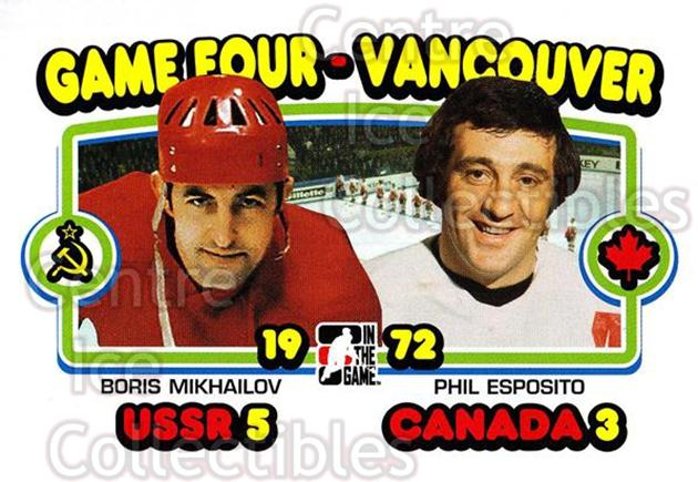 2009-10 ITG 1972 The Year In Hockey #193 Boris Mikhailov, Phil Esposito<br/>17 In Stock - $2.00 each - <a href=https://centericecollectibles.foxycart.com/cart?name=2009-10%20ITG%201972%20The%20Year%20In%20Hockey%20%23193%20Boris%20Mikhailov...&quantity_max=17&price=$2.00&code=252062 class=foxycart> Buy it now! </a>