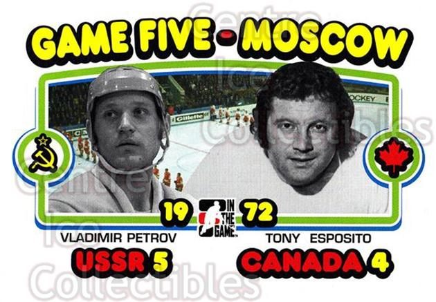 2009-10 ITG 1972 The Year In Hockey #194 Vladimir Petrov, Tony Esposito<br/>18 In Stock - $2.00 each - <a href=https://centericecollectibles.foxycart.com/cart?name=2009-10%20ITG%201972%20The%20Year%20In%20Hockey%20%23194%20Vladimir%20Petrov...&quantity_max=18&price=$2.00&code=252063 class=foxycart> Buy it now! </a>