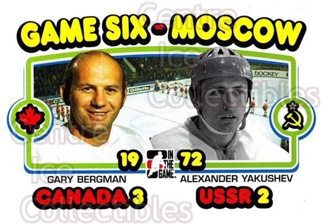 2009-10 ITG 1972 The Year In Hockey #195 Gary Bergman, Alexander Yakushev<br/>21 In Stock - $1.00 each - <a href=https://centericecollectibles.foxycart.com/cart?name=2009-10%20ITG%201972%20The%20Year%20In%20Hockey%20%23195%20Gary%20Bergman,%20A...&quantity_max=21&price=$1.00&code=252064 class=foxycart> Buy it now! </a>