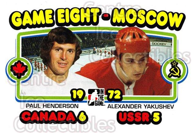 2009-10 ITG 1972 The Year In Hockey #197 Paul Henderson, Alexander Yakushev<br/>15 In Stock - $1.00 each - <a href=https://centericecollectibles.foxycart.com/cart?name=2009-10%20ITG%201972%20The%20Year%20In%20Hockey%20%23197%20Paul%20Henderson,...&quantity_max=15&price=$1.00&code=252066 class=foxycart> Buy it now! </a>