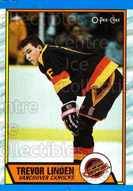 1989-90 O-Pee-Chee #89 Trevor Linden<br/>43 In Stock - $2.00 each - <a href=https://centericecollectibles.foxycart.com/cart?name=1989-90%20O-Pee-Chee%20%2389%20Trevor%20Linden...&quantity_max=43&price=$2.00&code=252077 class=foxycart> Buy it now! </a>