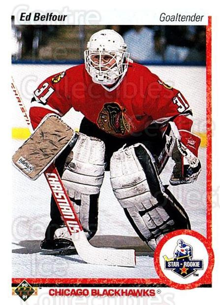 1990-91 Upper Deck #55 Ed Belfour<br/>15 In Stock - $2.00 each - <a href=https://centericecollectibles.foxycart.com/cart?name=1990-91%20Upper%20Deck%20%2355%20Ed%20Belfour...&price=$2.00&code=252103 class=foxycart> Buy it now! </a>