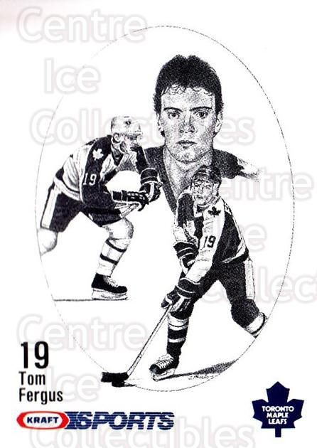 1986-87 Kraft Drawings #16 Tom Fergus<br/>12 In Stock - $2.00 each - <a href=https://centericecollectibles.foxycart.com/cart?name=1986-87%20Kraft%20Drawings%20%2316%20Tom%20Fergus...&price=$2.00&code=25222 class=foxycart> Buy it now! </a>