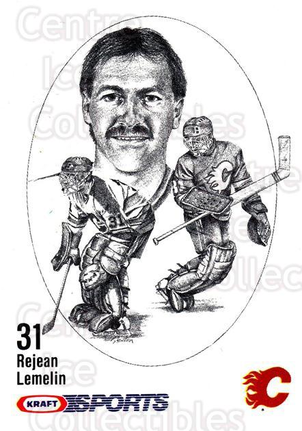 1986-87 Kraft Drawings #32 Rejean Lemelin<br/>7 In Stock - $2.00 each - <a href=https://centericecollectibles.foxycart.com/cart?name=1986-87%20Kraft%20Drawings%20%2332%20Rejean%20Lemelin...&price=$2.00&code=25237 class=foxycart> Buy it now! </a>