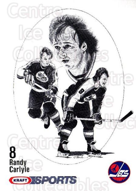 1986-87 Kraft Drawings #6 Randy Carlyle<br/>11 In Stock - $2.00 each - <a href=https://centericecollectibles.foxycart.com/cart?name=1986-87%20Kraft%20Drawings%20%236%20Randy%20Carlyle...&quantity_max=11&price=$2.00&code=25267 class=foxycart> Buy it now! </a>