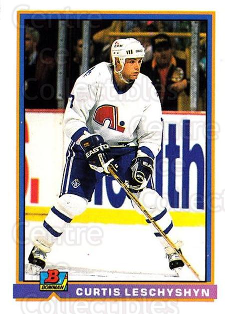 1991-92 Bowman #142 Curtis Leschyshyn<br/>3 In Stock - $1.00 each - <a href=https://centericecollectibles.foxycart.com/cart?name=1991-92%20Bowman%20%23142%20Curtis%20Leschysh...&quantity_max=3&price=$1.00&code=252756 class=foxycart> Buy it now! </a>