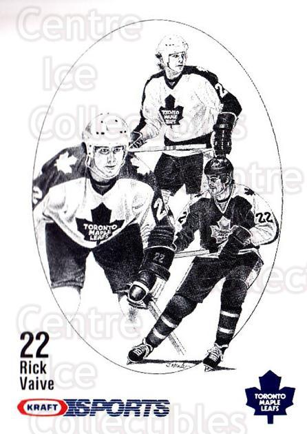 1986-87 Kraft Drawings #77 Rick Vaive<br/>4 In Stock - $2.00 each - <a href=https://centericecollectibles.foxycart.com/cart?name=1986-87%20Kraft%20Drawings%20%2377%20Rick%20Vaive...&quantity_max=4&price=$2.00&code=25283 class=foxycart> Buy it now! </a>