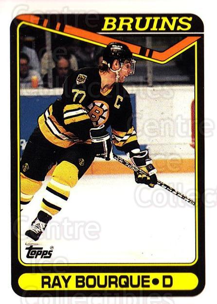 1990-91 Topps #43 Ray Bourque<br/>4 In Stock - $1.00 each - <a href=https://centericecollectibles.foxycart.com/cart?name=1990-91%20Topps%20%2343%20Ray%20Bourque...&quantity_max=4&price=$1.00&code=253086 class=foxycart> Buy it now! </a>