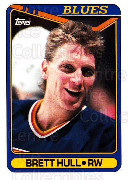 1990-91 Topps #77 Brett Hull<br/>5 In Stock - $1.00 each - <a href=https://centericecollectibles.foxycart.com/cart?name=1990-91%20Topps%20%2377%20Brett%20Hull...&price=$1.00&code=253120 class=foxycart> Buy it now! </a>