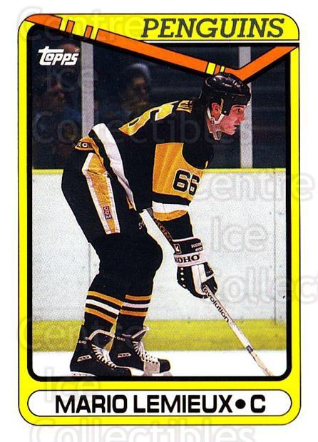 1990-91 Topps #175 Mario Lemieux<br/>4 In Stock - $2.00 each - <a href=https://centericecollectibles.foxycart.com/cart?name=1990-91%20Topps%20%23175%20Mario%20Lemieux...&price=$2.00&code=253218 class=foxycart> Buy it now! </a>