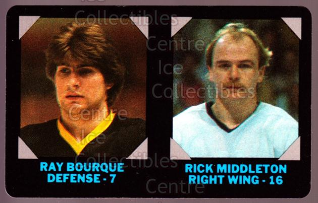 1985-86 7-Eleven Credit Cards 7-11 #1 Ray Bourque, Rick Middleton<br/>3 In Stock - $5.00 each - <a href=https://centericecollectibles.foxycart.com/cart?name=1985-86%207-Eleven%20Credit%20Cards%207-11%20%231%20Ray%20Bourque,%20Ri...&quantity_max=3&price=$5.00&code=25328 class=foxycart> Buy it now! </a>