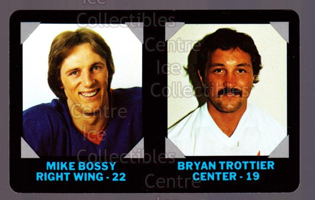 1985-86 7-Eleven Credit Cards 7-11 #12 Mike Bossy, Bryan Trottier<br/>8 In Stock - $2.00 each - <a href=https://centericecollectibles.foxycart.com/cart?name=1985-86%207-Eleven%20Credit%20Cards%207-11%20%2312%20Mike%20Bossy,%20Bry...&price=$2.00&code=25331 class=foxycart> Buy it now! </a>