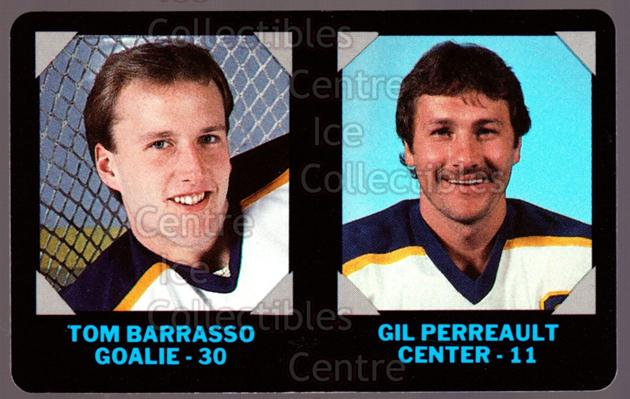 1985-86 7-Eleven Credit Cards 7-11 #2 Tom Barrasso, Gilbert Perreault<br/>8 In Stock - $3.00 each - <a href=https://centericecollectibles.foxycart.com/cart?name=1985-86%207-Eleven%20Credit%20Cards%207-11%20%232%20Tom%20Barrasso,%20G...&price=$3.00&code=25337 class=foxycart> Buy it now! </a>