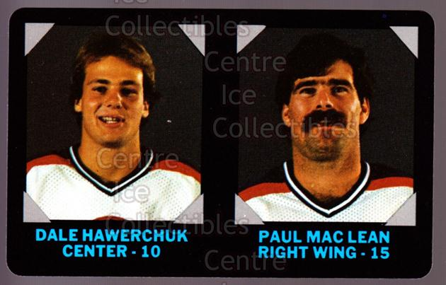 1985-86 7-Eleven Credit Cards 7-11 #21 Dale Hawerchuk, Paul MacLean<br/>9 In Stock - $3.00 each - <a href=https://centericecollectibles.foxycart.com/cart?name=1985-86%207-Eleven%20Credit%20Cards%207-11%20%2321%20Dale%20Hawerchuk,...&quantity_max=9&price=$3.00&code=25339 class=foxycart> Buy it now! </a>