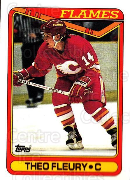 1990-91 Topps #386 Theo Fleury<br/>5 In Stock - $1.00 each - <a href=https://centericecollectibles.foxycart.com/cart?name=1990-91%20Topps%20%23386%20Theo%20Fleury...&quantity_max=5&price=$1.00&code=253429 class=foxycart> Buy it now! </a>