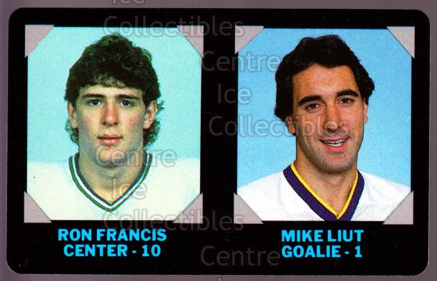 1985-86 7-Eleven Credit Cards 7-11 #7 Ron Francis, Mike Luit<br/>8 In Stock - $3.00 each - <a href=https://centericecollectibles.foxycart.com/cart?name=1985-86%207-Eleven%20Credit%20Cards%207-11%20%237%20Ron%20Francis,%20Mi...&quantity_max=8&price=$3.00&code=25346 class=foxycart> Buy it now! </a>