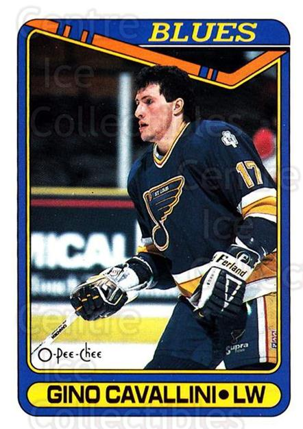 1990-91 O-Pee-Chee #36 Gino Cavallini<br/>2 In Stock - $1.00 each - <a href=https://centericecollectibles.foxycart.com/cart?name=1990-91%20O-Pee-Chee%20%2336%20Gino%20Cavallini...&quantity_max=2&price=$1.00&code=253475 class=foxycart> Buy it now! </a>