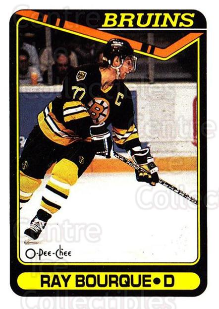 1990-91 O-Pee-Chee #43 Ray Bourque<br/>7 In Stock - $1.00 each - <a href=https://centericecollectibles.foxycart.com/cart?name=1990-91%20O-Pee-Chee%20%2343%20Ray%20Bourque...&quantity_max=7&price=$1.00&code=253482 class=foxycart> Buy it now! </a>
